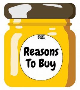 Jar of reasons to buy